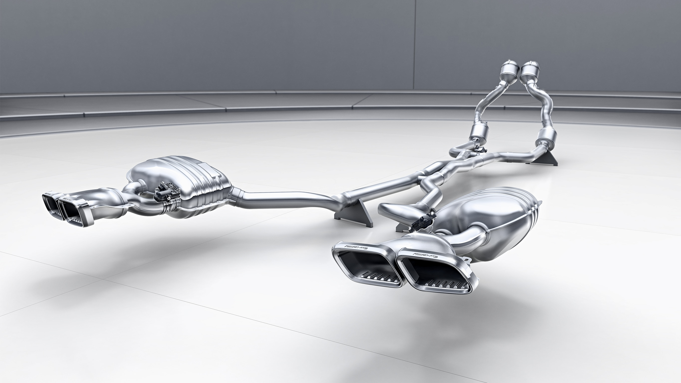 Amg Performance Exhaust System Actively Controlled
