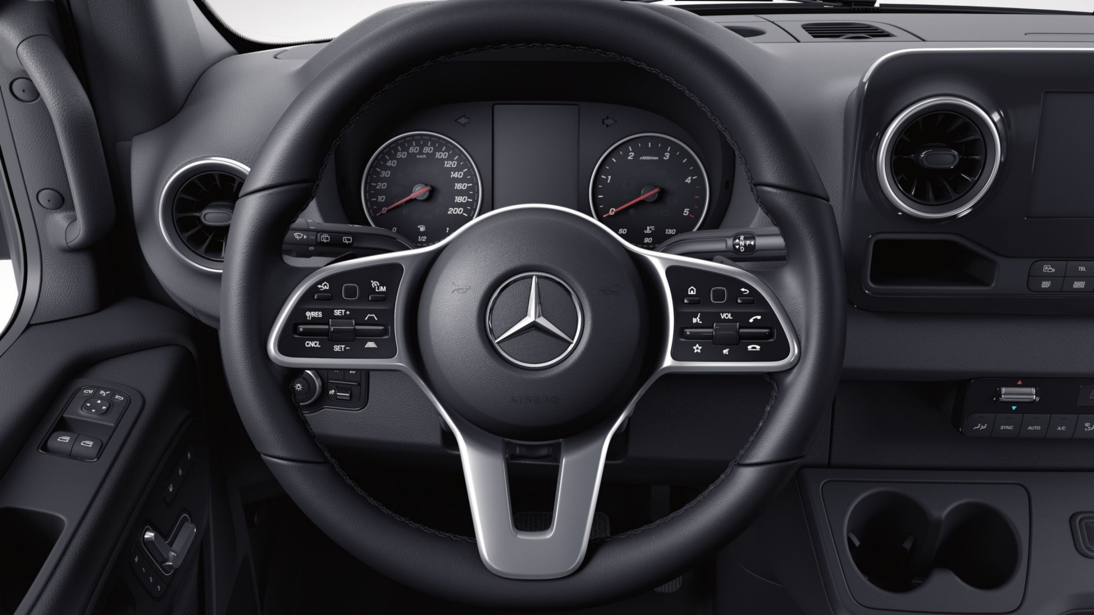 Sprinter Cab Chassis, multifunction steering wheel
