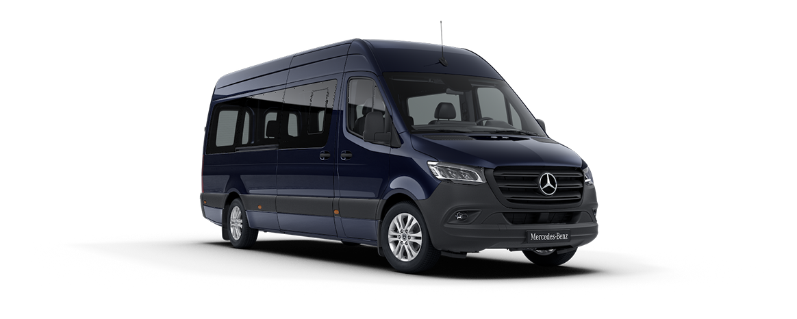 Sprinter minibus tourer, features, metallic paints, Cavansite blue