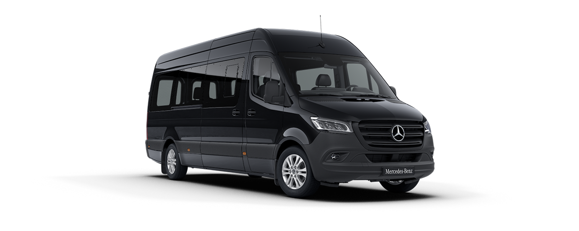 Sprinter minibus tourer, features, metallic paints, Obsidian black