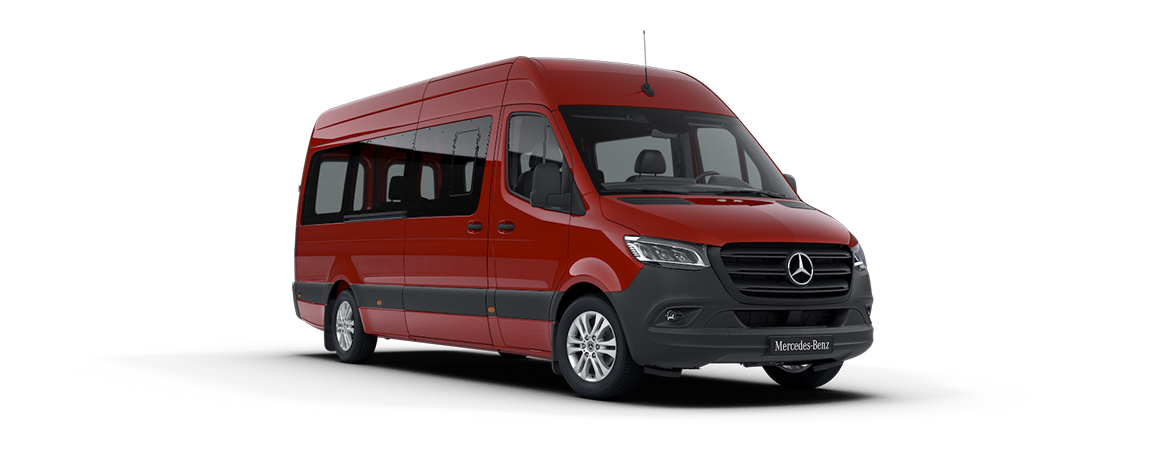 Sprinter minibus tourer, features, Jupiter red