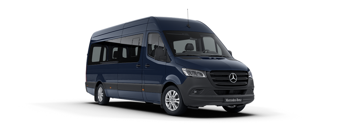 Sprinter minibus tourer, features, metallic paints, Steel blue