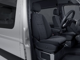 Sprinter minibus tourer, features, comfort, lumbar supports in the driver and co-driver seats, ergonomic lumbar support