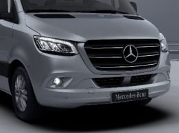 Sprinter minibus tourer, features, exterior, chrome-plated radiator grille