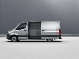 Sprinter minibus tourer, sliding door on the right, left hand side sliding door