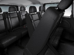 Vito Tourer, 3-seater bench in 1st row with folding outer seat