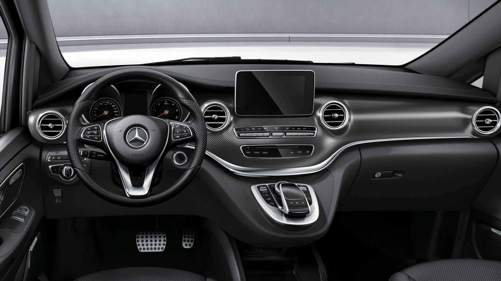 V-Class, Features, Equipment, AMG Line, Interior, Cockpit space, Sporty